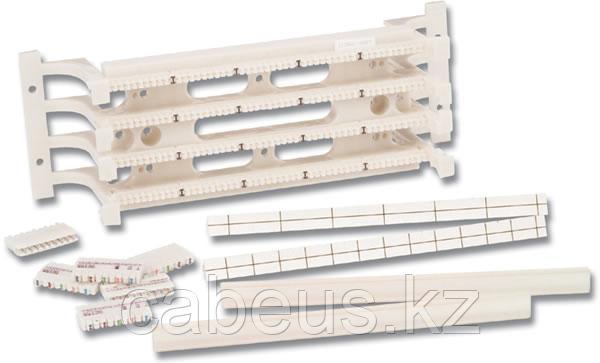 Siemon S110AB1-50FT 50-парная настенная кросс-панель на съемной подставке, тип 110, с 4-парными соединительными блоками S110, держателями для этикеток