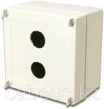 Siemon X-IBOX-02 Индустриальный бокс поверхностного монтажа,2-х портовый (на 2 модуля), вводные фитинги на 2 кабеля, защита IP66, цвет светло-серый