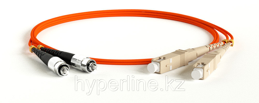Hyperline FC-D2-50-FC/PR-SC/PR-H-10M-LSZH-OR Патч-корд волоконно-оптический (шнур) MM 50/125, SC-FC, 2.0 мм, duplex, LSZH, 10 м