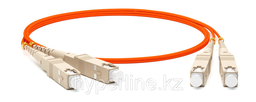 Hyperline FC-D2-50-SC/PR-SC/PR-H-3M-LSZH-OR Патч-корд волоконно-оптический (шнур) MM 50/125, SC-SC, 2.0 мм, duplex, LSZH, 3 м