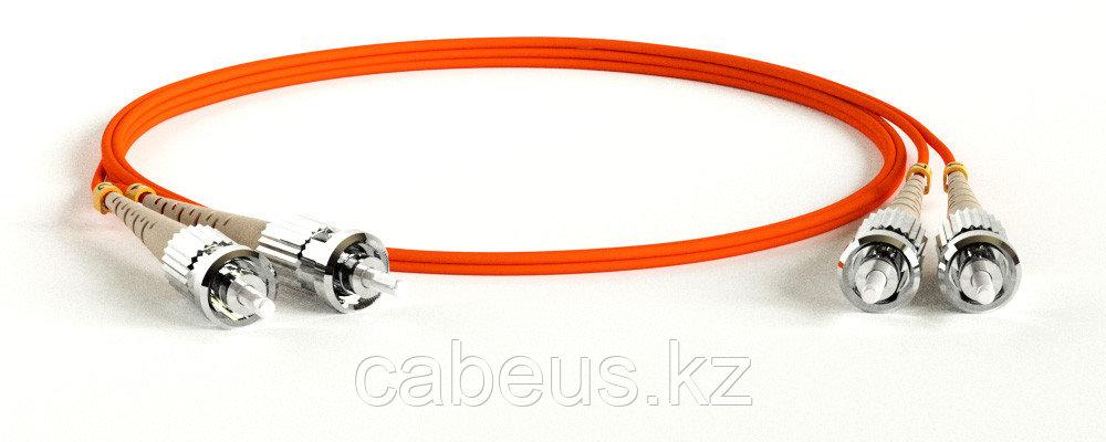 Hyperline FC-D2-50-ST/PR-ST/PR-H-3M-LSZH-OR Патч-корд волоконно-оптический (шнур) MM 50/125, ST-ST, 2.0 мм, duplex, LSZH, 3 м