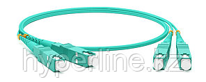Hyperline FC-D2-503-SC/PR-SC/PR-H-30M-LSZH-AQ Патч-корд волоконно-оптический (шнур) MM 50/125(OM3), SC-SC, 2.0