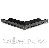 """Siemon Z6AS-PNLA-24K Z-MAX Патч-панель 19"""", 24 порта, экранированная, категория 6А, 1U, черная, угловая, с"""