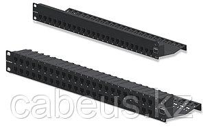 Siemon Z6AS-PNL-U48K Патч-панель экранированная ZMAX кат. 6А, 48 портов с модулями, 1U, черная