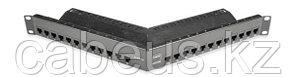 """Siemon Z6A-PNLA-24K Z-MAX Патч-панель 19"""", 24 порта, угловая, категория 6A, неэкранированная, 1U, черная, с"""