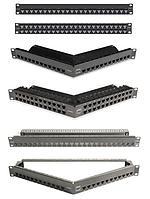 """Siemon Z-PNL-24E Z-MAX Патч-панель 19"""", 24 порта, неэкранированная, 1U, черная, без модулей (в комплекте маркировочные этикетки, кабельные стяжки,"""