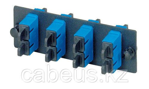 PANDUIT FAP4WBUDSC Панель OPTICOM для 4 SC дуплексных одномодовых оптических адаптеров с муфтами из