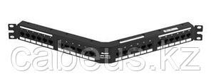 PANDUIT DPA24688TGY Патч-панель угловая DP6 PLUS GP6, категория 6, 24 порта, 1U