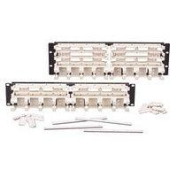 """Siemon S110DB1-300RFT 19"""" 300-парная кросс-панель, тип 110, с 4-парными модулями, 3U"""