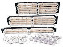 """Siemon S110DB1-100RFT 19"""" 100-парная кросс-панель, тип 110, с 4-парными модулями, 1U"""
