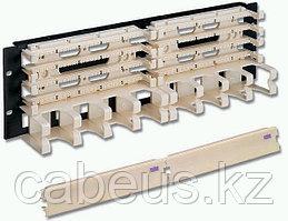 """Siemon S110DB2-200RWM 19"""" 200-парная панель, тип 110, с 4-парными модулями и кабельным органайзером, 3U"""