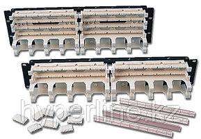 """Siemon S110DB2-100RWM 19"""" 100-парная панель с 4-х парными модулями и кабельным органайзером"""