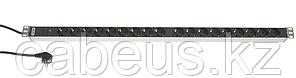 Hyperline SHT-18SH-I-2.5EU Блок розеток, 18 розеток, 16 A, индикатор, шнур 2.5м (959 x 44.4 x 44.4 мм)
