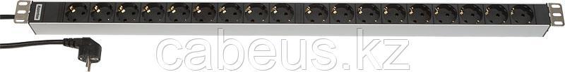 Hyperline SHT-18SH-2.5EU Блок розеток, 18 розеток, 16 A, шнур 2.5м (945 x 44.4 x 44.4 мм)
