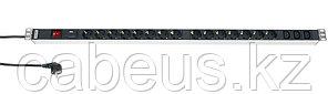 Hyperline SHT-15SH-3IEC-SF-2.5EU Блок розеток, 15 розеток + 3 х IEC320 C13, 16 A, выключатель, защита от