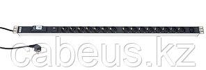 Hyperline SHT-15SH-1IEC-SF-2.5EU Блок розеток, 15 розеток + 1 х IEC320 C13, 16 A, выключатель, защита от