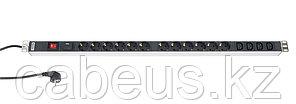 Hyperline SHT-12SH-4IEC-SF-2.5EU Блок розеток, 12 розеток + 4 х IEC320 C13, 16 A, выключатель, защита от
