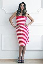 Легкое трикотажное платье без бретелей