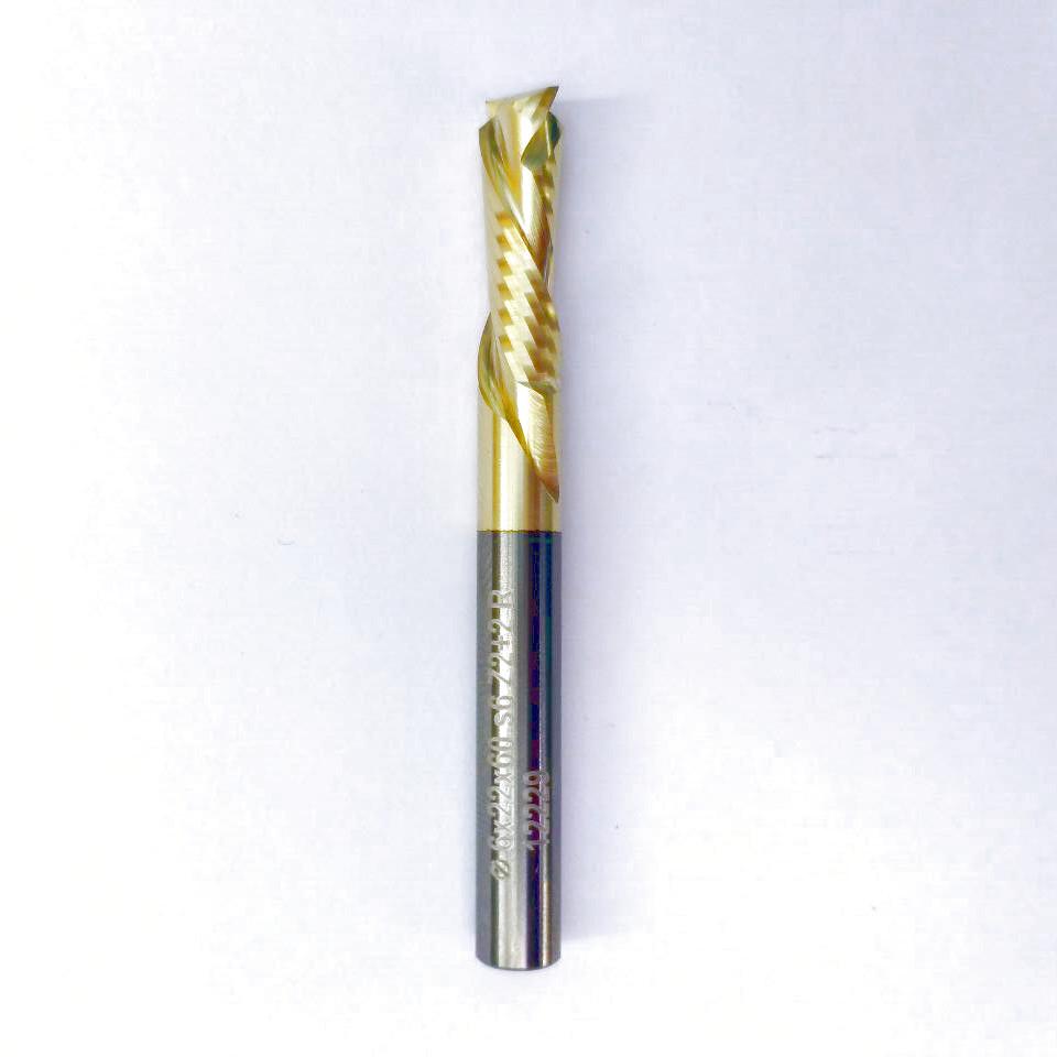 Фреза компрессионная HM 6х22х60 Z2+2 R std