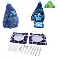 Рюкзак-холодильник с набором для пикника Premium 7, на 2 персоны