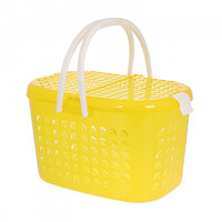 Корзина-переноска большая, цвет желтый прозрачный