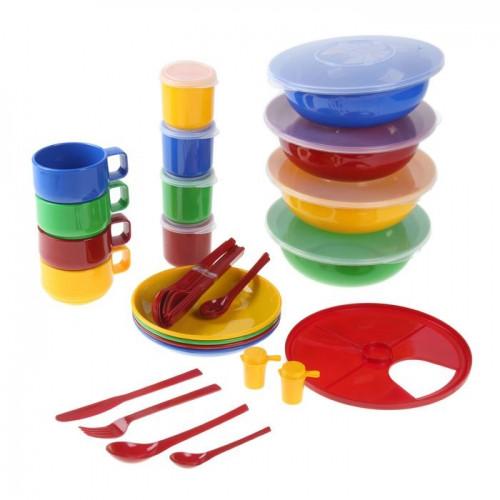 """Набор посуды """"Приятного аппетита"""" в футляре-сумке на 4-8 персон"""