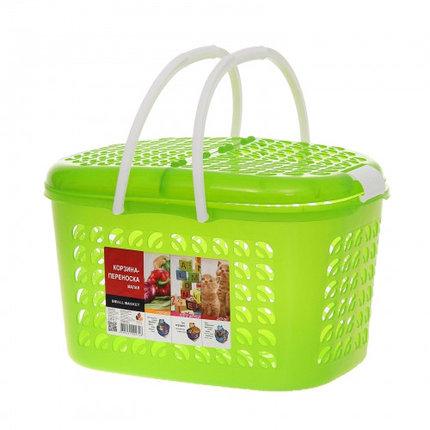 Корзина-переноска малая, цвет зеленый прозрачный, фото 2