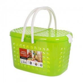 Корзина-переноска большая, цвет зеленый прозрачный, фото 2
