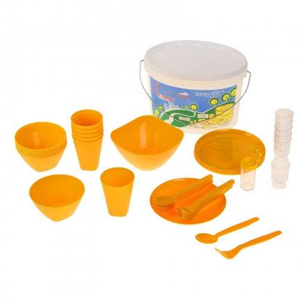 Набор для пикника Picniс, 39 предметов, цвет солнечный, фото 2