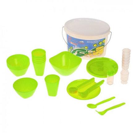 Набор для пикника Picniс 39 предметов, цвет салатовый, фото 2