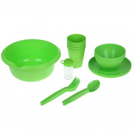 Набор для пикника Picnic mini, цвет салатный, фото 2