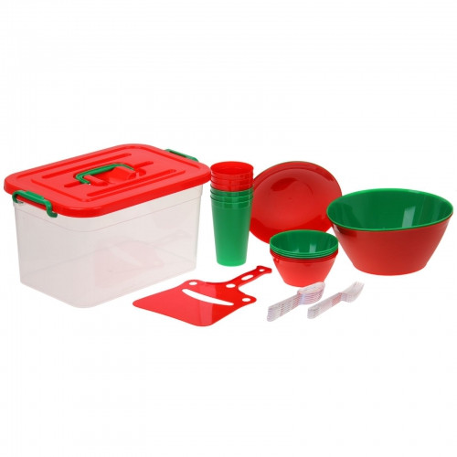 Набор для пикника на 6 персон (контейнер 10 л), 34 предмета