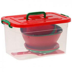 Набор для пикника на 6 персон (контейнер 10 л), 34 предмета, фото 2