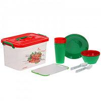Набор для пикника на 4 персоны (контейнер 6,5 л), 22 предмета