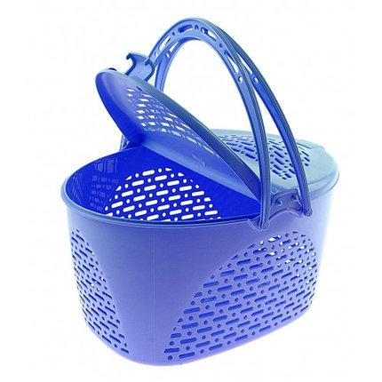 Корзина для пикника 39х29х23 см, цвет голубой, фото 2