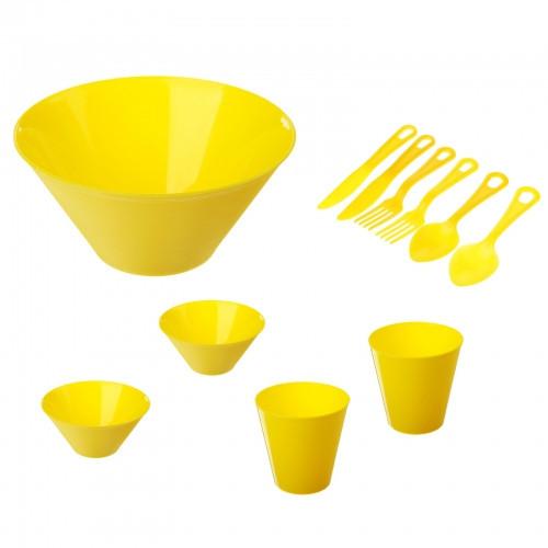 Набор для пикника на 2 персоны, цвет желтый