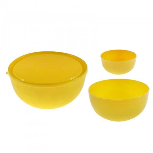 Набор салатников для шашлыка, цвет лимон