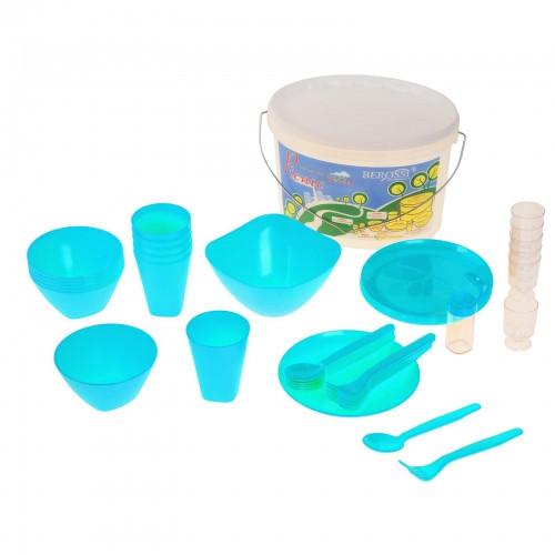 Набор для пикника Picniс, 39 предметов, цвет бирюза