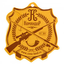 "Набор для шашлыка ""Охота на уток"" (6 шампуров, нож) 69,5Х20,5Х3,5 см, фото 2"