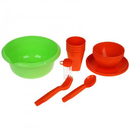 Набор для пикника Picnic mini, цвет мандарин, фото 2