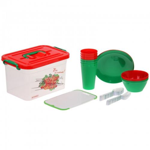 Набор для пикника на 6 персон (контейнер 6,5 л), 32 предмета