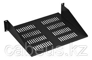 Hyperline SSHS-180-RAL9004 Полка для 10'' шкафа TDC 272 x 180 мм, уст. размер 254 мм, цвет черный