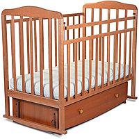 """Кровать детская """"Митенька"""" поперечный маятник с ящ. 163007 орех"""