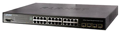 Коммутатор, Planet, WGSW-24040, 24 порта 10/100/1000M RJ45+4 комбинированных гигабитных TP/ SFP порта, Управля