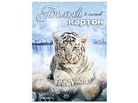 """Белый картон """"Белый тигр"""" 8 листов"""