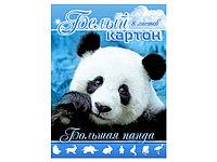 "Белый картон ""Большая панда"" 8 листов"