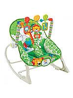 Кресло-качалка с игрушками и вибрацией FitchBaby зеленый