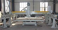 Станок для распиловки камня с подвижной платформой и 5 осями