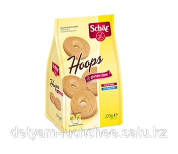 Печенье формовое Hoops без глютена, Dr.Schar 220 грамм