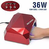 Лампа CCFL (UV) + LED лампа 36W красная, фото 2
